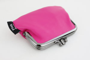Hot Pink Leather Coin Purse Handmade in Australia | PINKOASIS