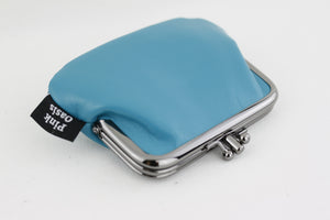 Teal Leather Coin Purse Handmade in Australia | PINKOASIS