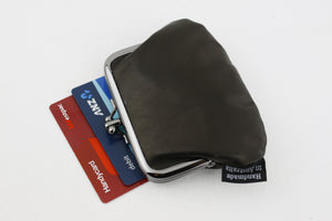 Black Leather Coin Purse Handmade in Australia | PINKOASIS