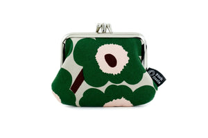 Unikko Fabric Poppy Green Coin Purse Australian Made | PINKOASIS