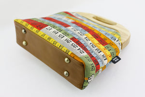 Retro Measuring Tapes Oversized Wooden Frame Bag | PINKOASIS