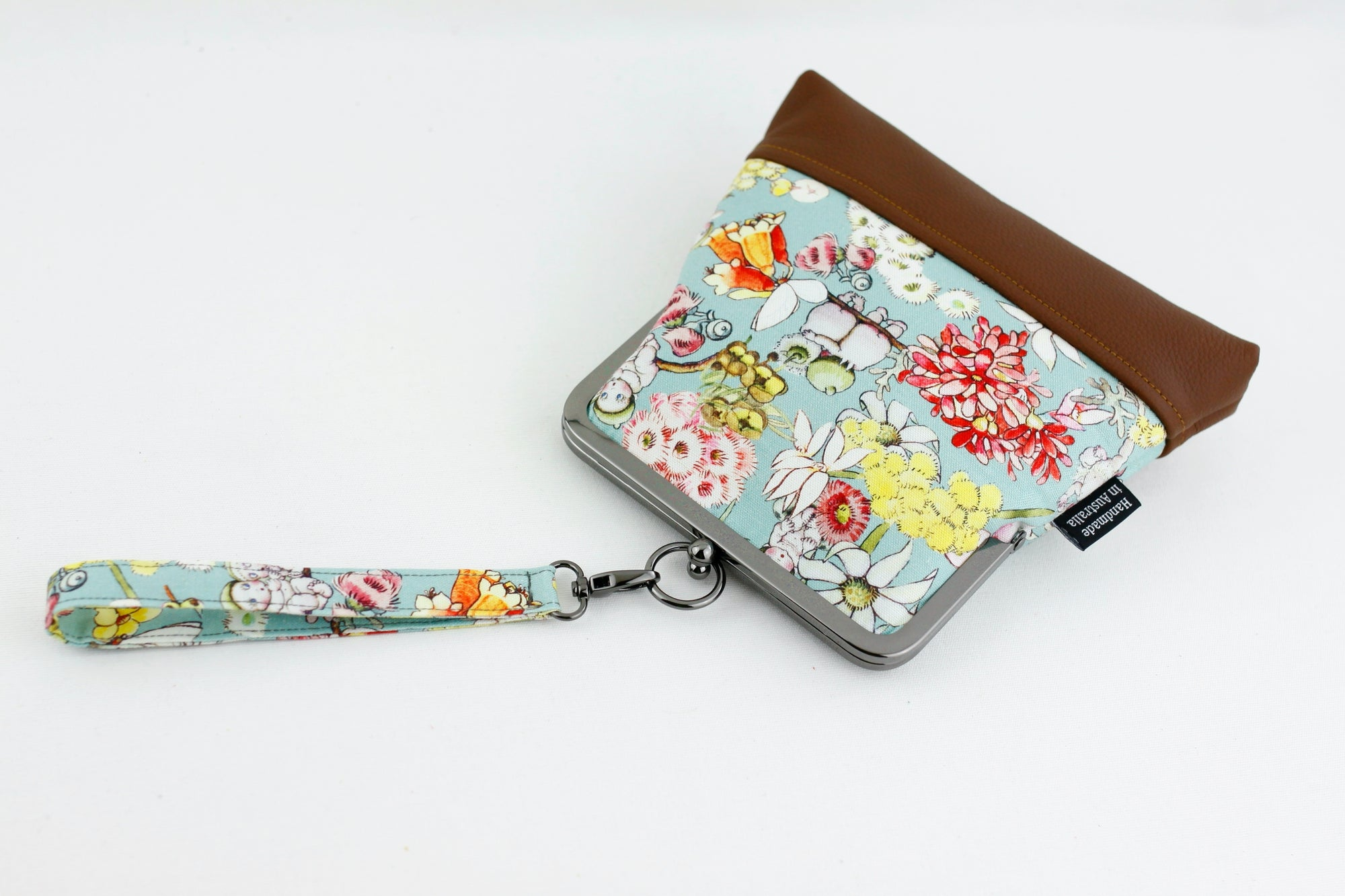 May Gibbs Gumnut Babies Mint Wristlet with Chain Strap | PINKOASIS
