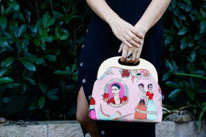 Frida Kahlo Large Wood Frame Bag