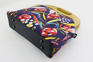 Abstract Protea Navy Native Flower Women's Clutch Bag | PINKOASIS