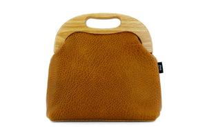 Women's Luxury Pebbled Tan Leather Bag | PINKOASIS