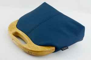 Women's Luxury Peacock Blue Leather Bag | PINKOASIS