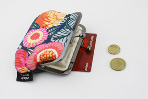 Protea Floral Coin Purse Handmade in Australia | PINKOASIS