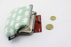 Mint Green Elephants Coin Purse Handmade in Australia | PINKOASIS