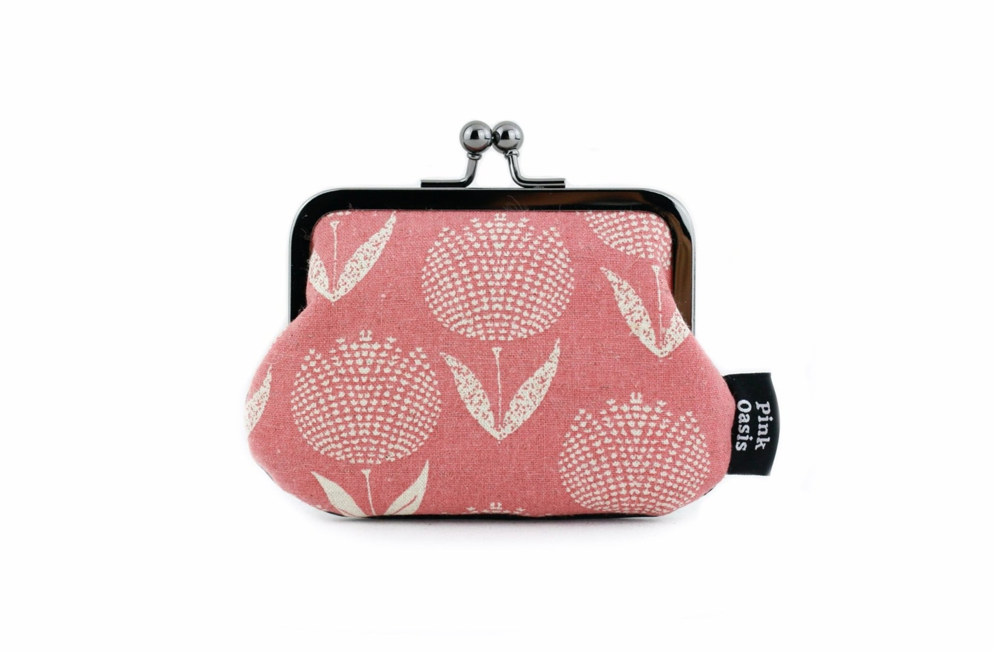 Rustic Pink Tulips Floral Coin Purse | PINKOASIS