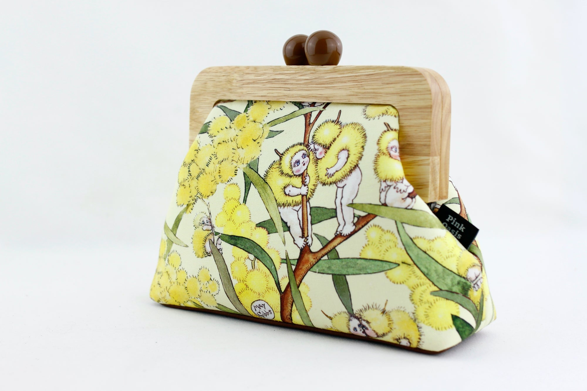 May Gibbs Wattle Babies Clutch Bag with Leather Strap | PINKOASIS