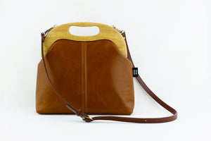 Women's Luxury Chestnut Leather Bag | PINKOASIS