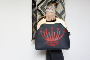 Waratah Navy & Red Leather Bag (PinkOasis X Felicity)