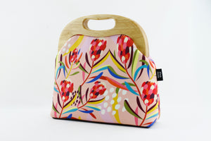 Abstract Protea Pink Native Flower Women's Clutch Bag | PINKOASIS