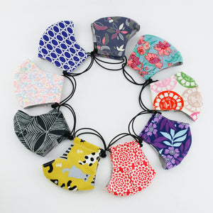 Reusable Face Mask (Regular Size) - Purple Flowers