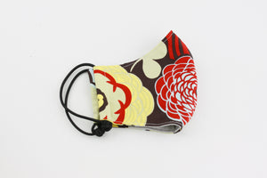 Reusable Face Mask (Regular Size) - Chrysanthemum Red and Yellow