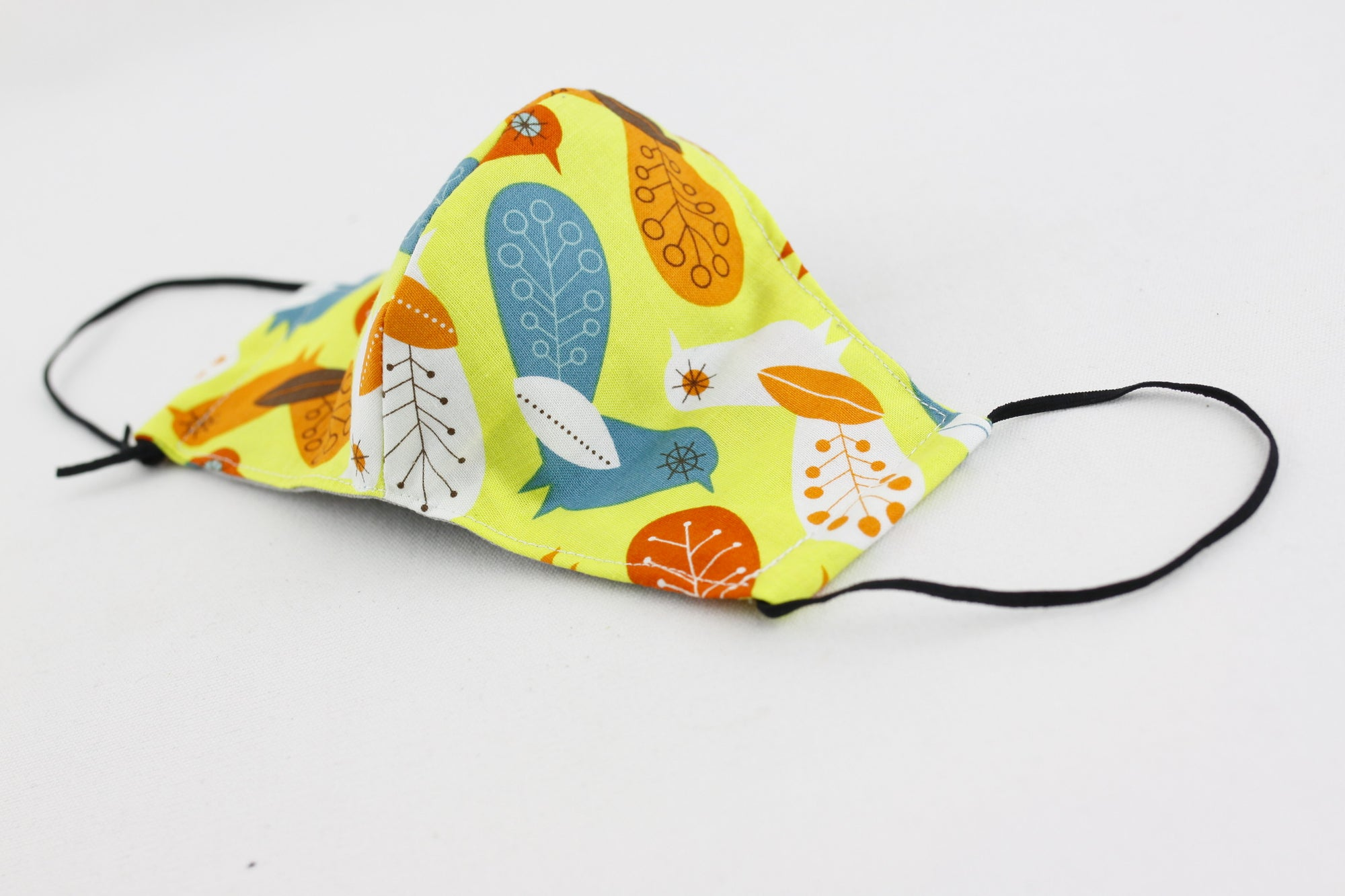 Reusable Face Mask (Kid Size) - Colorful Birds