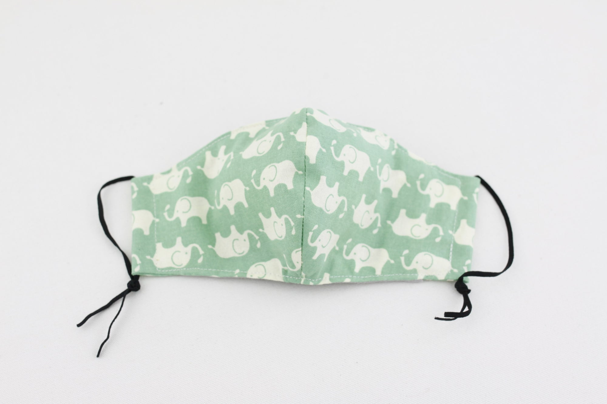 Reusable Face Mask (Kid Size) - Mint Elephants