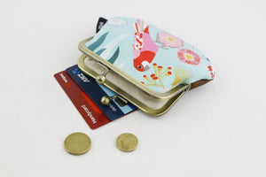 Parrot and Gumtree Coin Purse Handmade in Australia | PINKOASIS