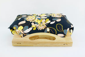Ginger Utopia Flower Medium Size Wood Frame Bag | PINKOASIS