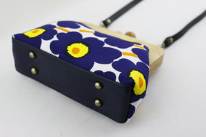 Unikko Poppy Dark Blue & Yellow Clutch
