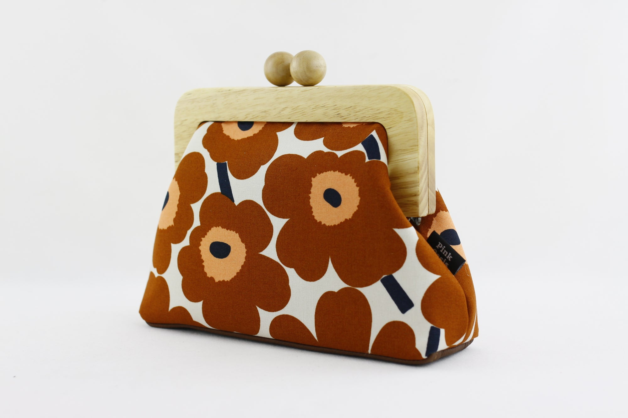 Marimekko Unikko Poppy Chestnut Brown Clutch Bag | PINKOASIS