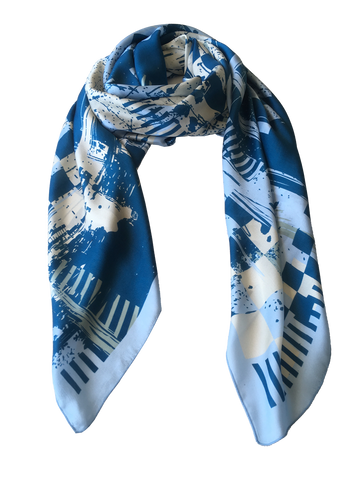 Foulards gross-blau