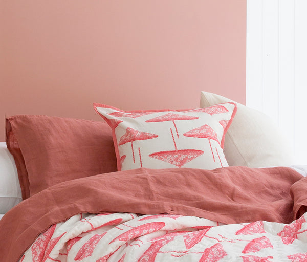 Pink Pretty Parasols Cushion