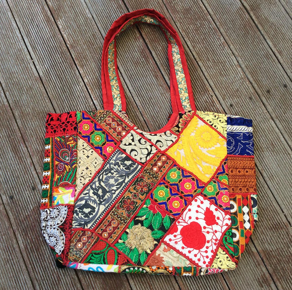Red Gypsy Embroidered Tote