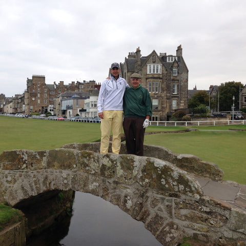 My Dad and I on the Swilcan Bridge, St. Andrews