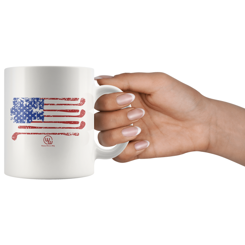 USA Golf Flag Mug