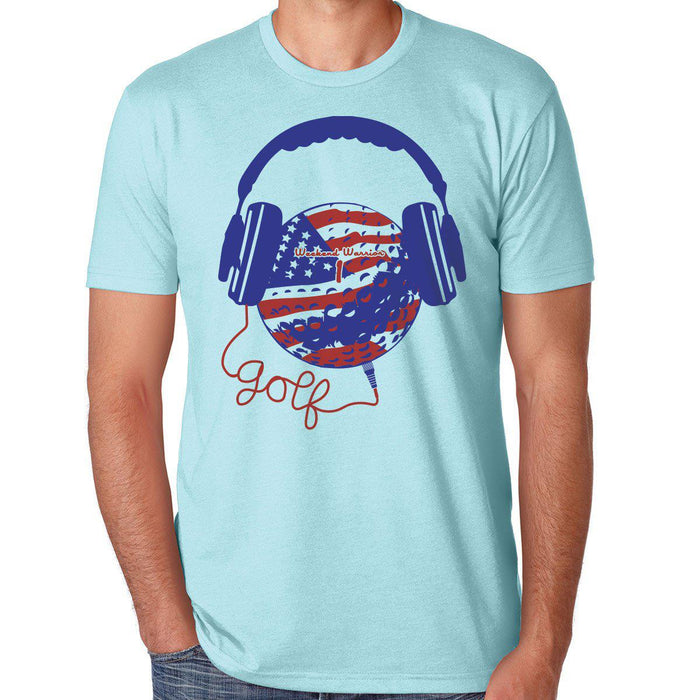 American Flag Golf & Music Tee