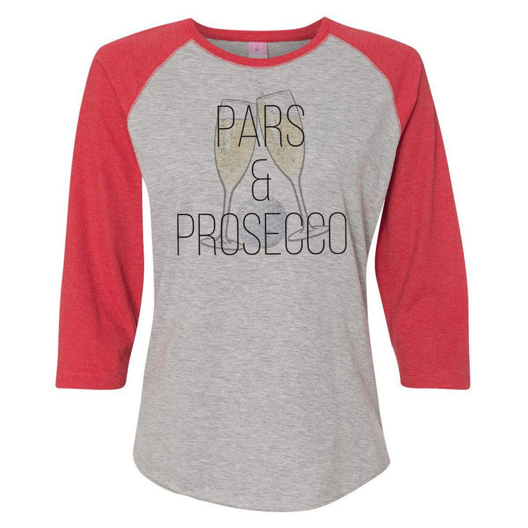 Pars & Prosecco Women's Baseball Tee