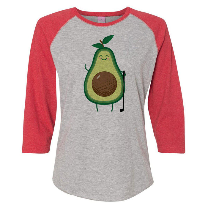 Avocado Golfer Women's Baseball Tee