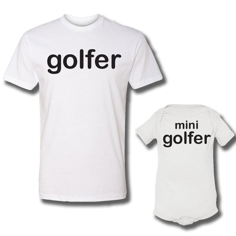 Golfer/Mini Golfer (Matching Set) - White