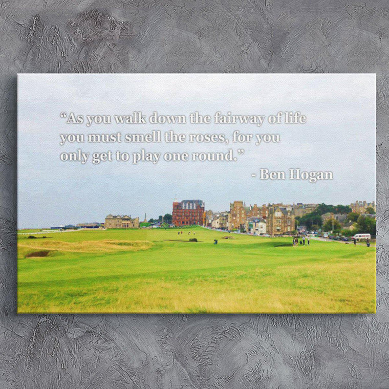 Fairways of Life - Ben Hogan Canvas Print