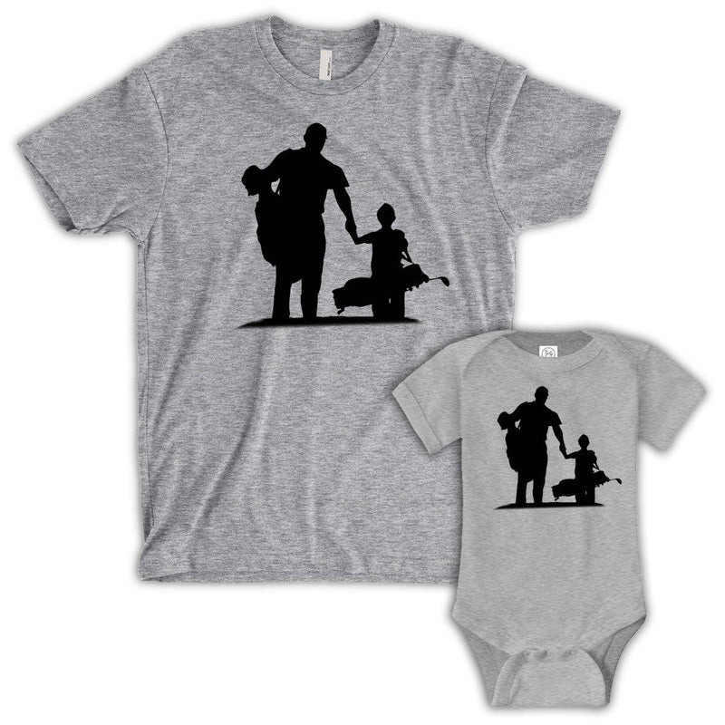 Partners, Father/Child (Matching Set) - Gray