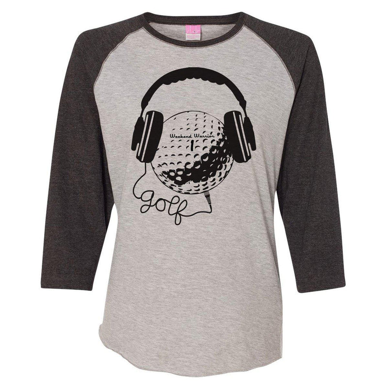 Golf & Music Women's Baseball Tee