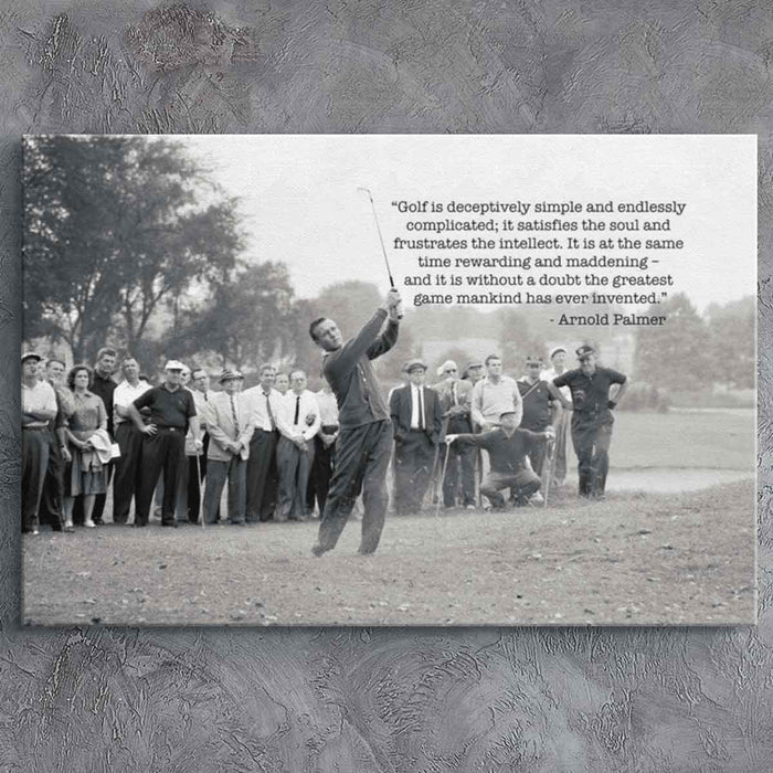 Golf Greatest Game - Arnold Palmer Canvas Print