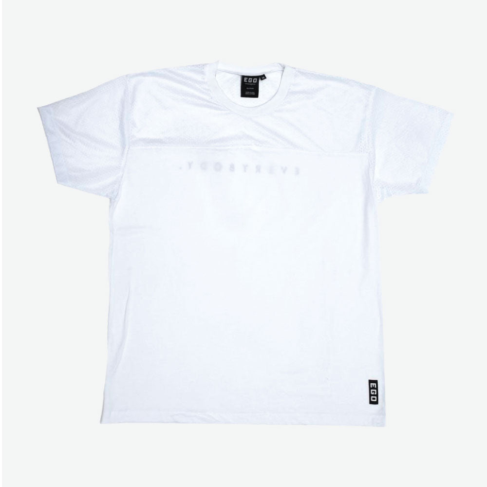 EGO CLASSICS ATHLETIC TEE - WHITE - EveryBodyGotOne
