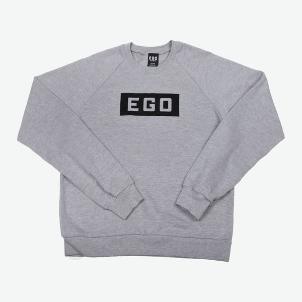 EGO Classics Logo Sweatshirt - Heather Grey/Black - EveryBodyGotOne