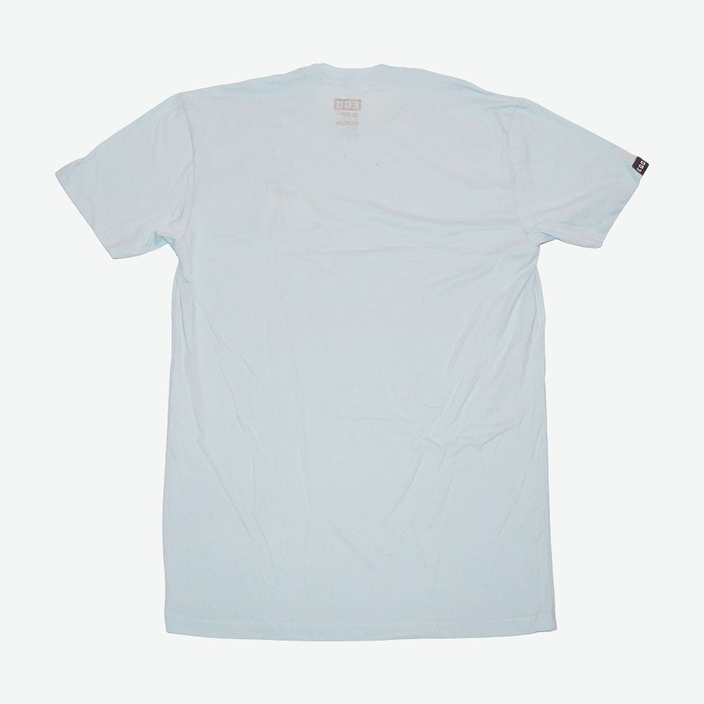 EGO Live Full, Die Empty Embroidery Tee - Lt. Blue - EveryBodyGotOne