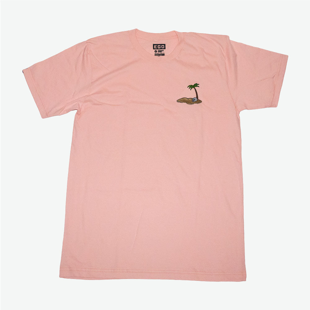 EGO Live Full, Die Empty Embroidery Tee - Peach - EveryBodyGotOne