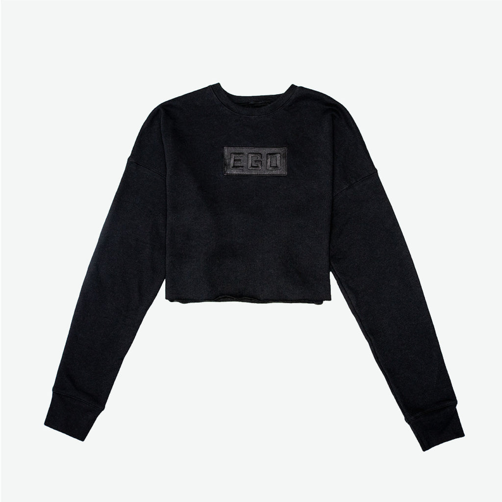 EGO CLASSIC | F/W19 Embroidered Logo Women Cropped Fleece