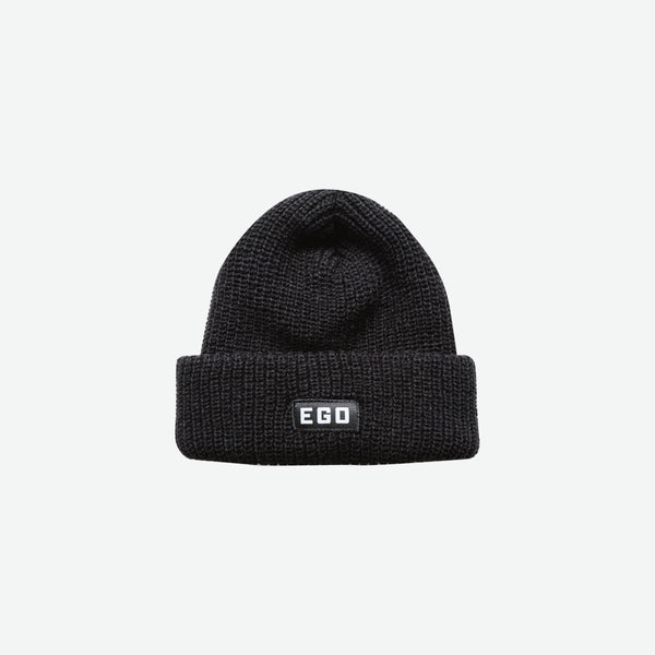 EGO CLASSIC Logo Beanie PS18 - Black - EveryBodyGotOne