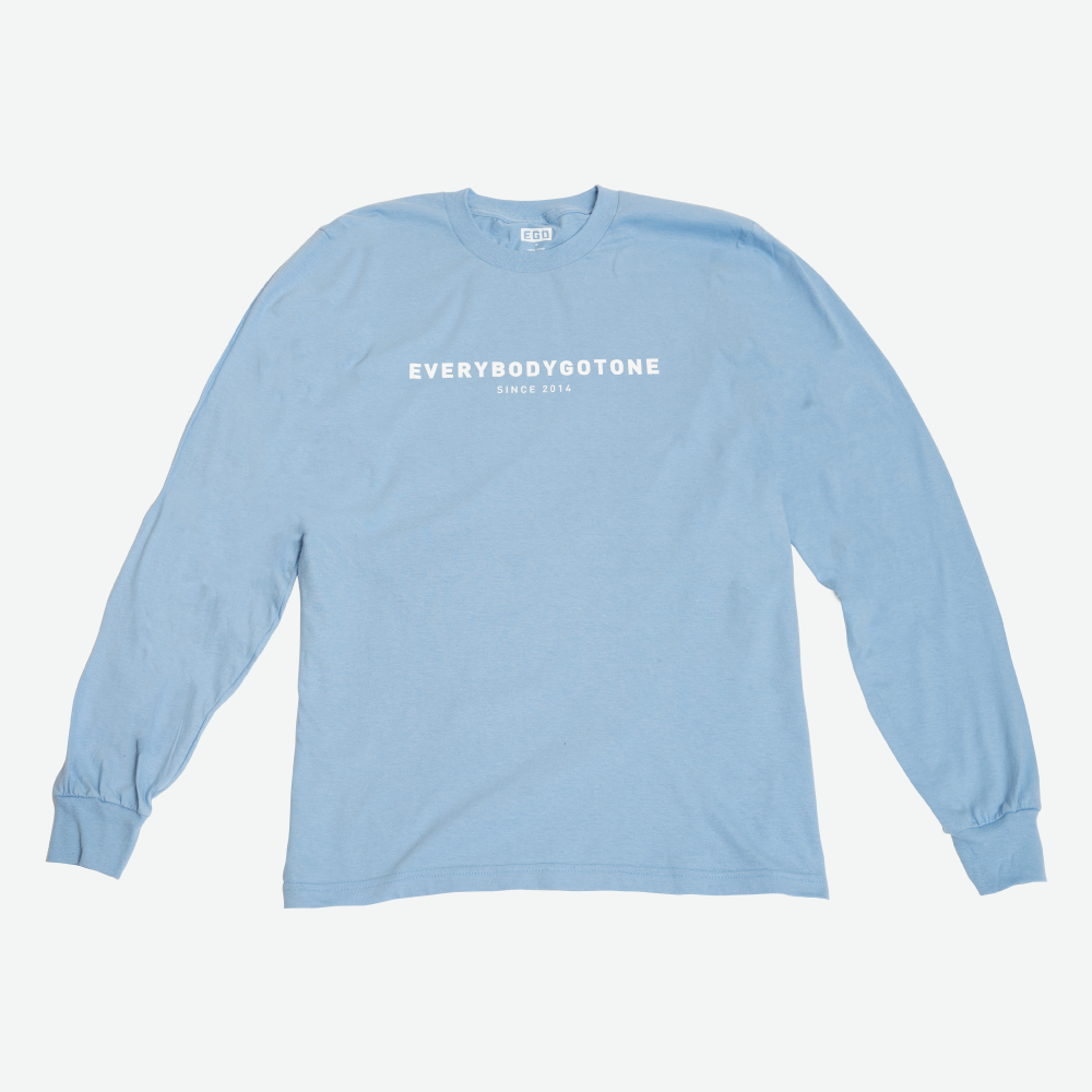 EGO CLASSIC L/S TEE SS18 - BABY BLUE - EveryBodyGotOne