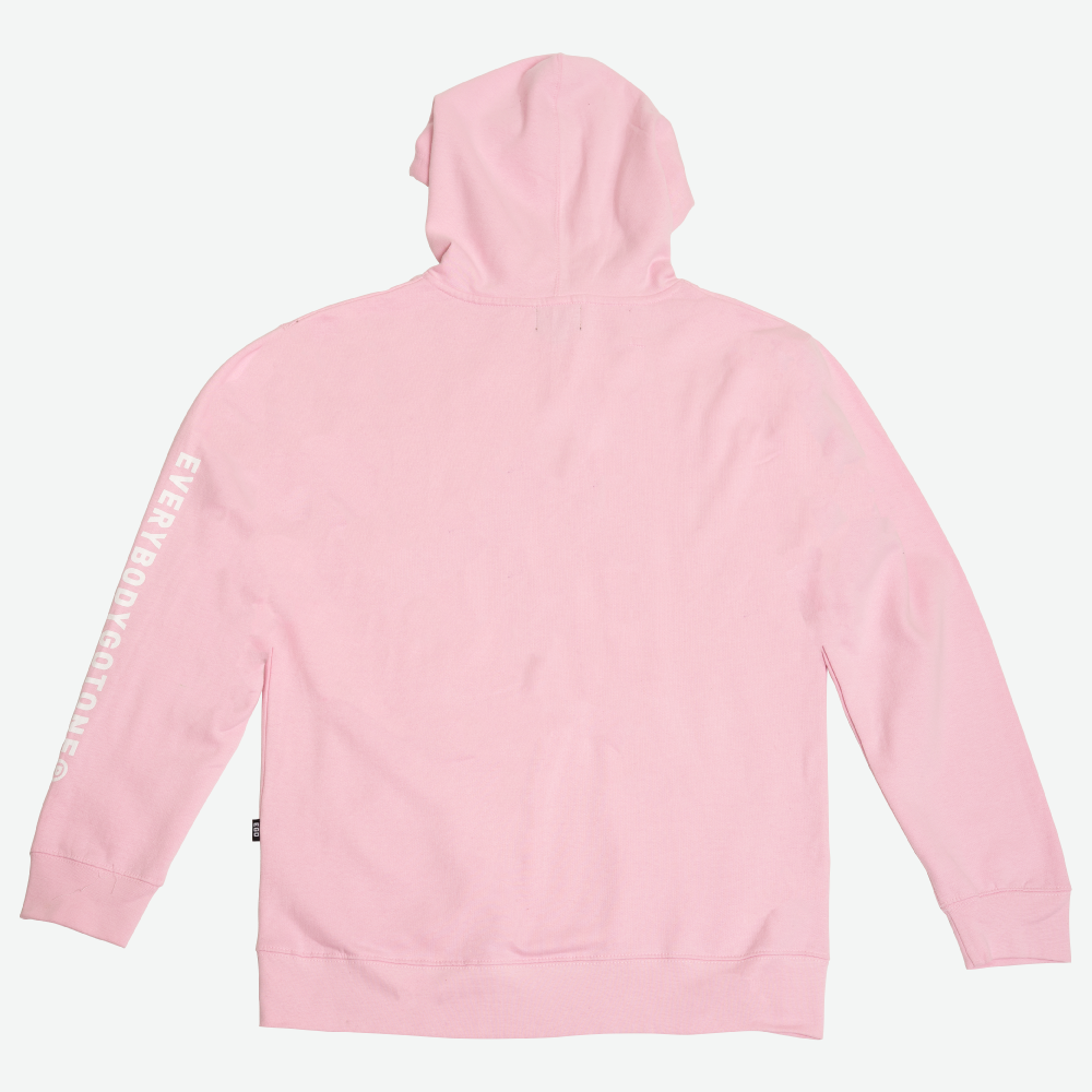 EGO CLASSIC LOGO HOODIE SS18 - PINK - EveryBodyGotOne