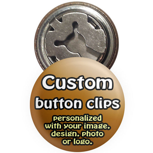 Custom promotional button covers. Button clip badges at The Button Store