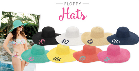 Monogram Floppy Beach Hat
