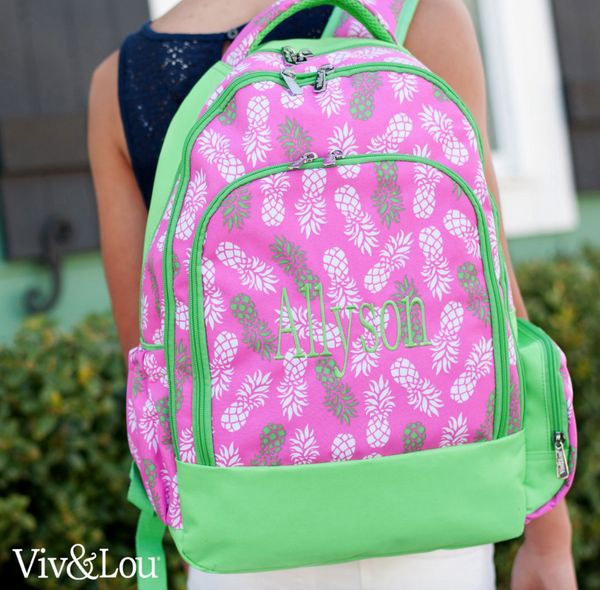 Pineapple Elementary/Middle School Backpack, Lunchbox & Pencil Case--Save $10 W/Set