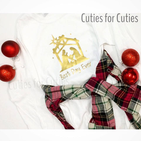 Christmas Tee, Best day ever shirt, nativity shirt,
